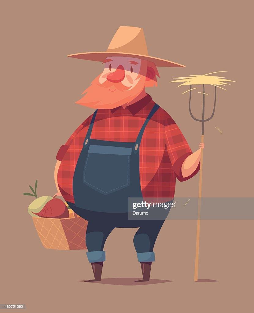 Funny farmer character