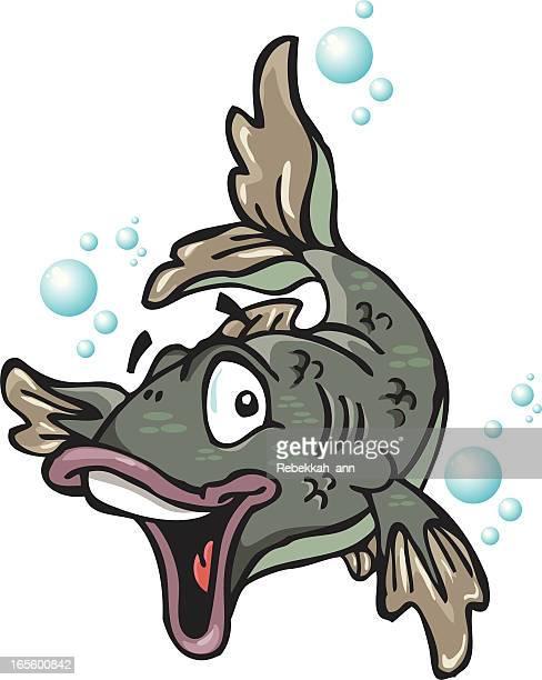 illustrations, cliparts, dessins animés et icônes de drôle de poisson! - carpe