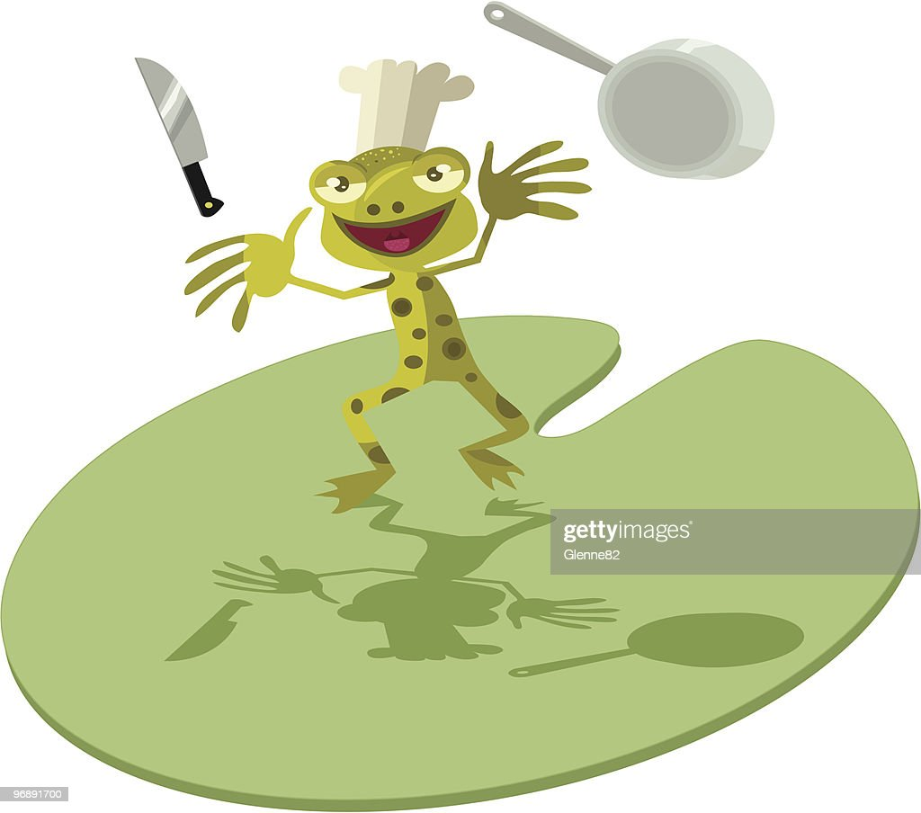 funny frog chef vector art getty images rh gettyimages ae Turtle Vector Frog Silhouette