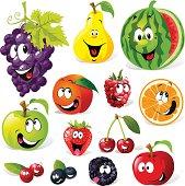 funny fruit cartoon