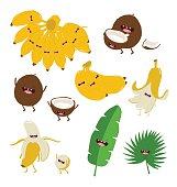 Funny fruit set