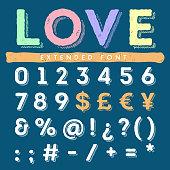 Funny hand drawn alphabet set