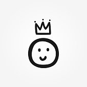 Funny icon, symbol, sign, logo drawn by hand. Doodle, sketch, scribble.