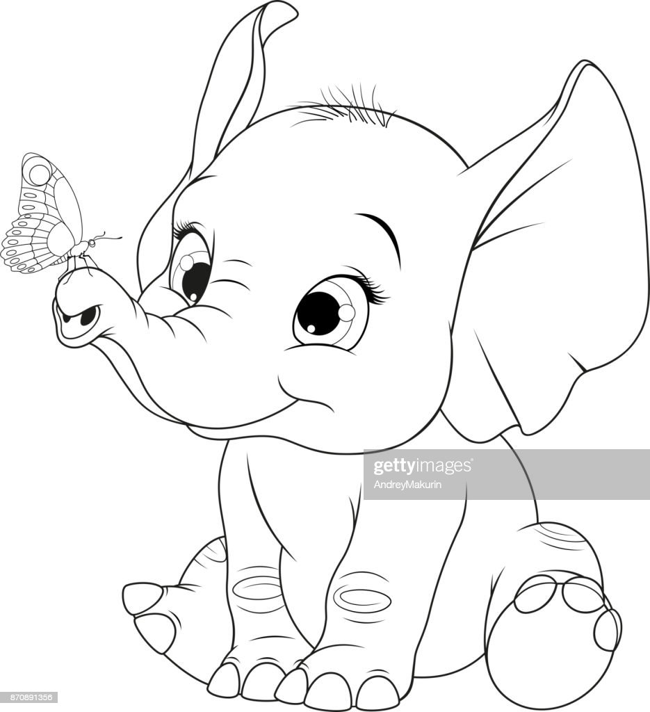 Funny kid elephant