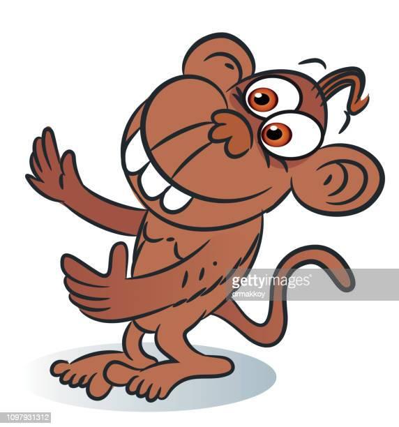 lustige affen - chimpanzee stock-grafiken, -clipart, -cartoons und -symbole