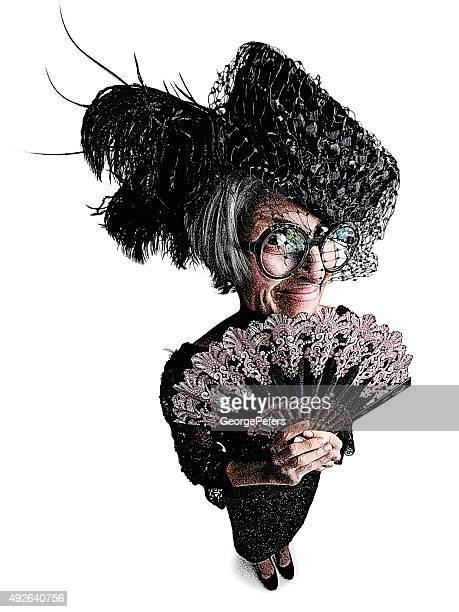 Seltsame Lady mit Fischaugen-Effekt
