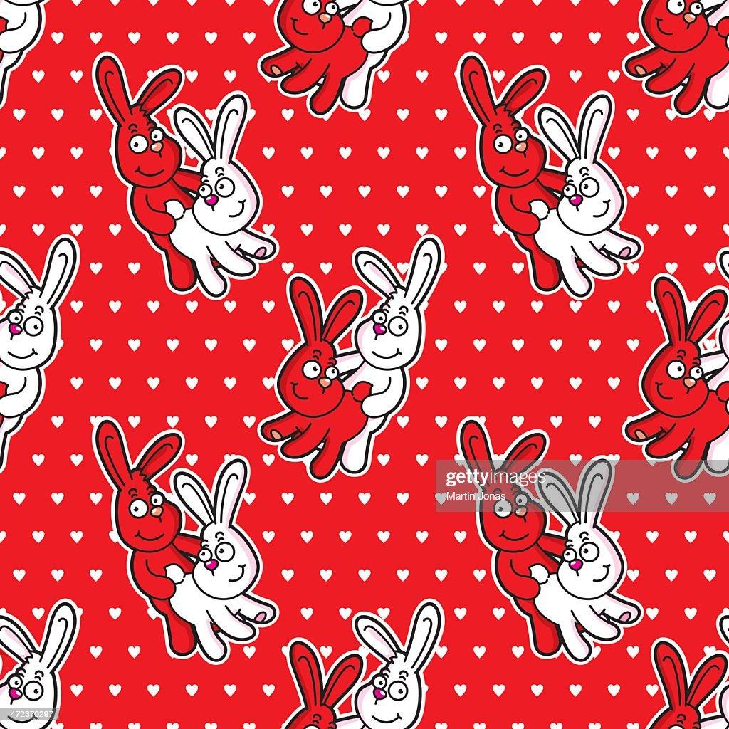 Funny rabbits seamless pattern