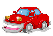 funny red car for you design