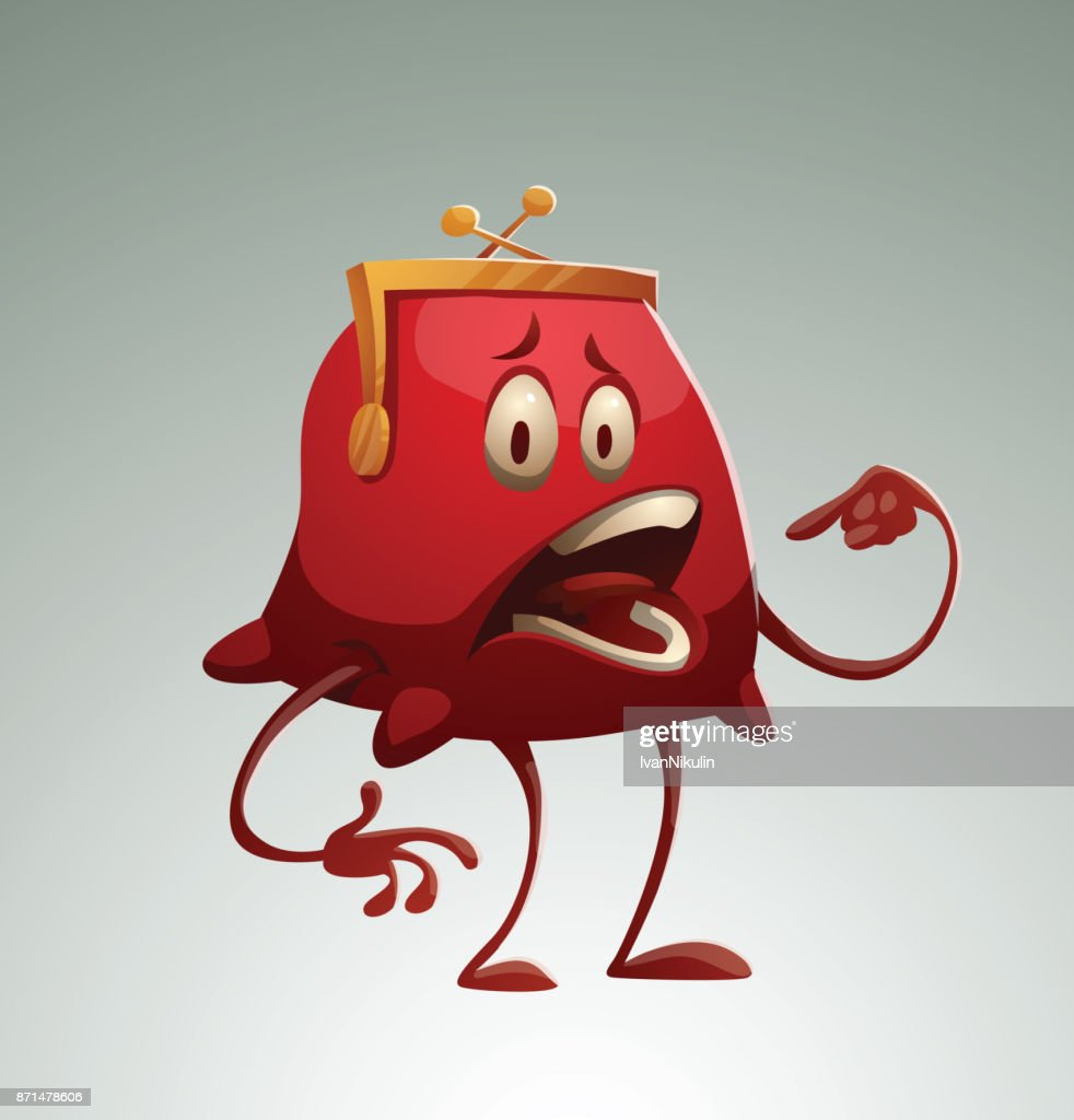 Funny red purse asking to eat