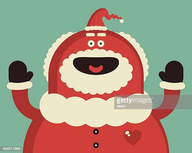 Funny Red Santa Claus Smiling