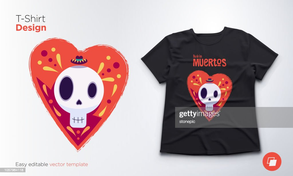 Funny skeleton. Print on T-shirts, sweatshirts and souvenirs