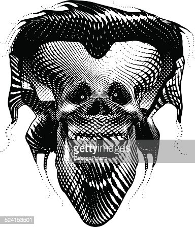 Funny Skull And Headphones stock illustration - Getty Images