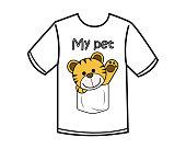 funny tiger cartoon design illustration
