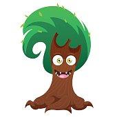 Funny tree monster for Halloween.