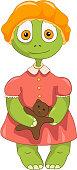 Funny Turtle. Baby Girl.
