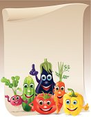 Funny vegetables company scroll
