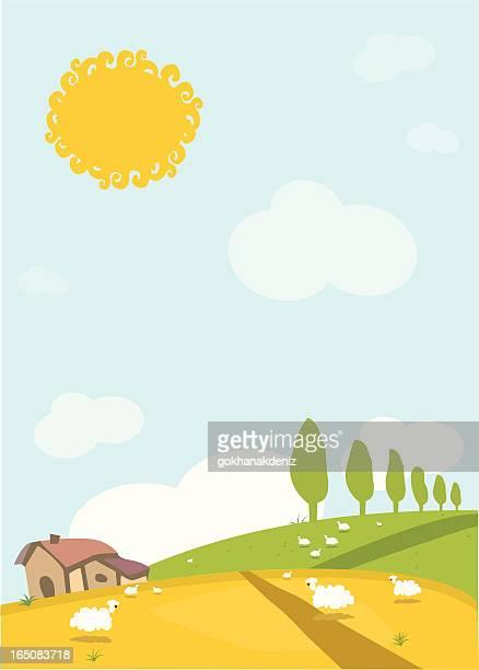 funny village - animal heart stock illustrations, clip art, cartoons, & icons