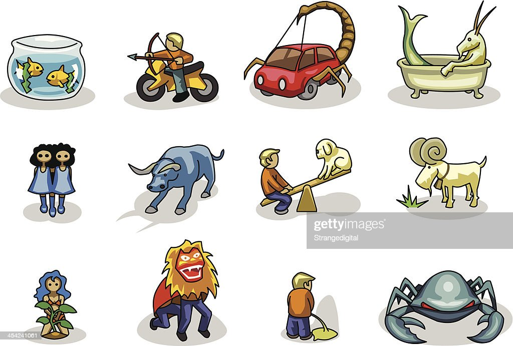 Funny Zodiac Signs : Vector Art