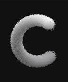 Fur texture letters