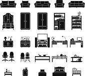 Furinture icons set