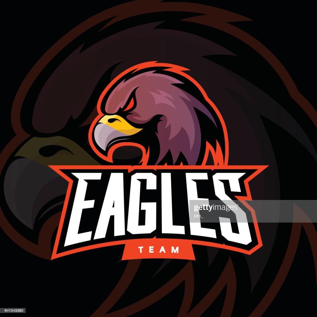 Furious eagle sport vector