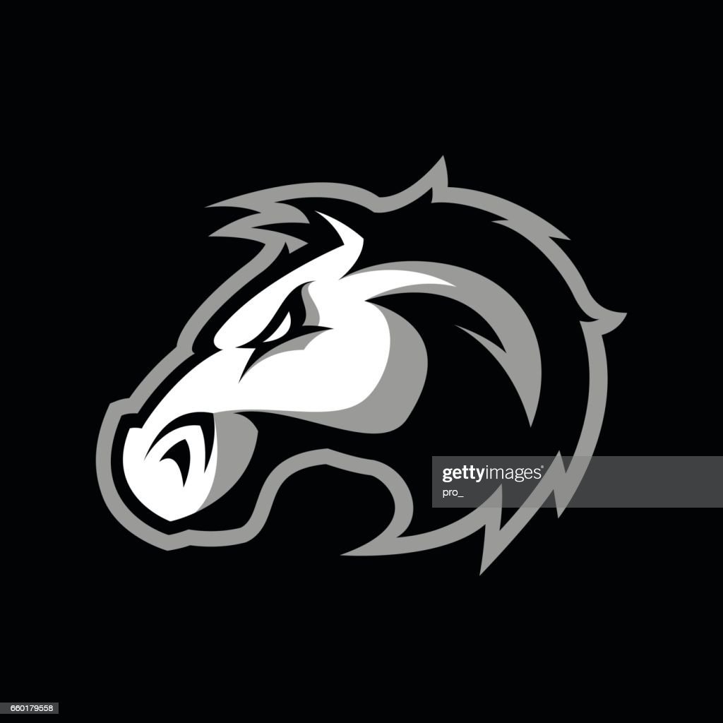 Furious horse head vector