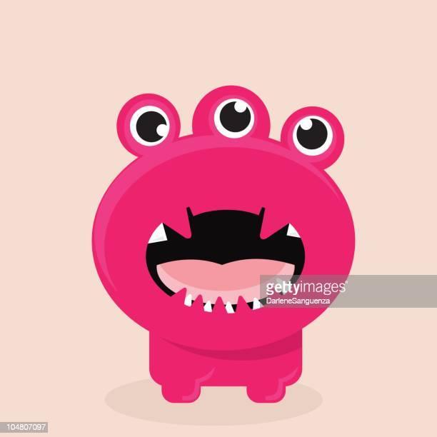 激怒ピンクの怪獣