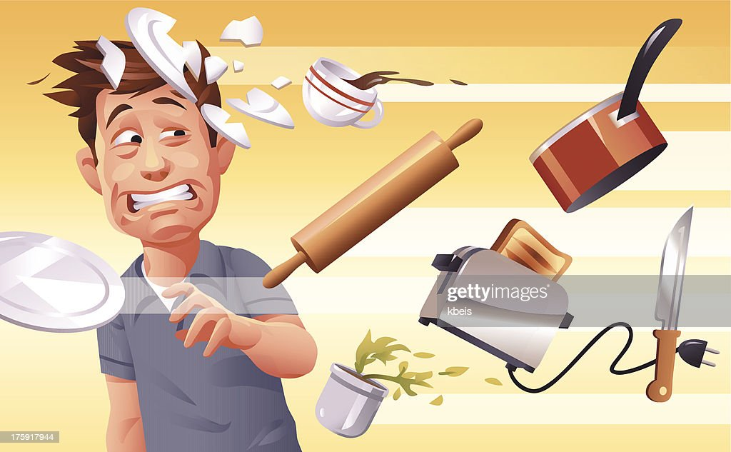 Furious Wife : stock illustration