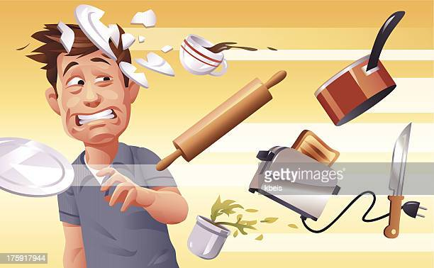 furious wife - toaster appliance stock illustrations, clip art, cartoons, & icons