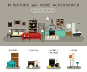 Furniture and home accessories banner.