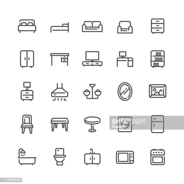Furniture and Home Appliances Icons Set