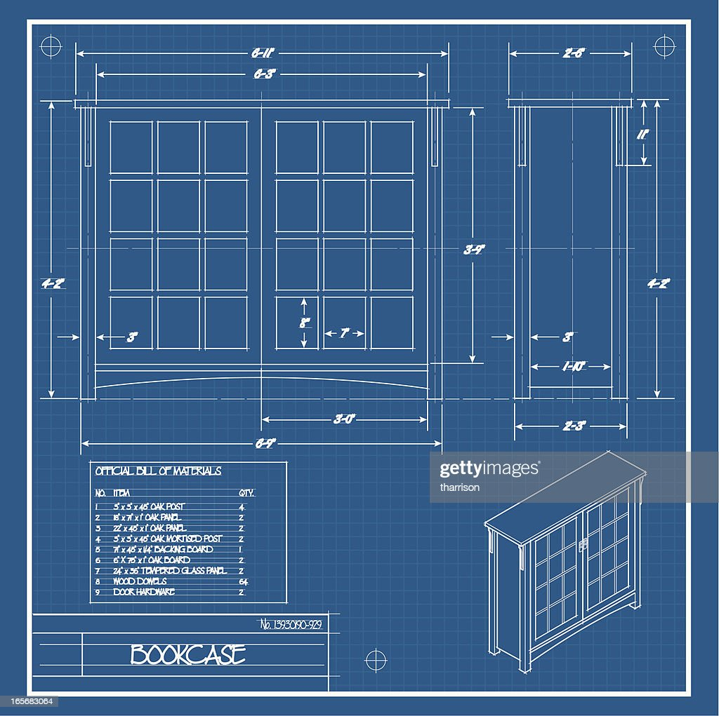 Furniture blueprint vector art getty images furniture blueprint vector art malvernweather Choice Image