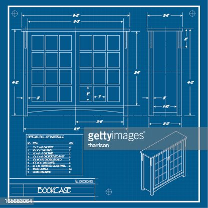 Furniture blueprint vector art getty images malvernweather Choice Image