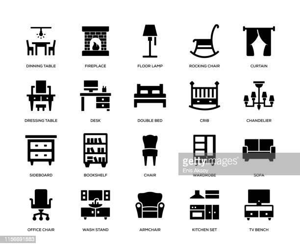 家具アイコンセット - 台所点のイラスト素材/クリップアート素材/マンガ素材/アイコン素材