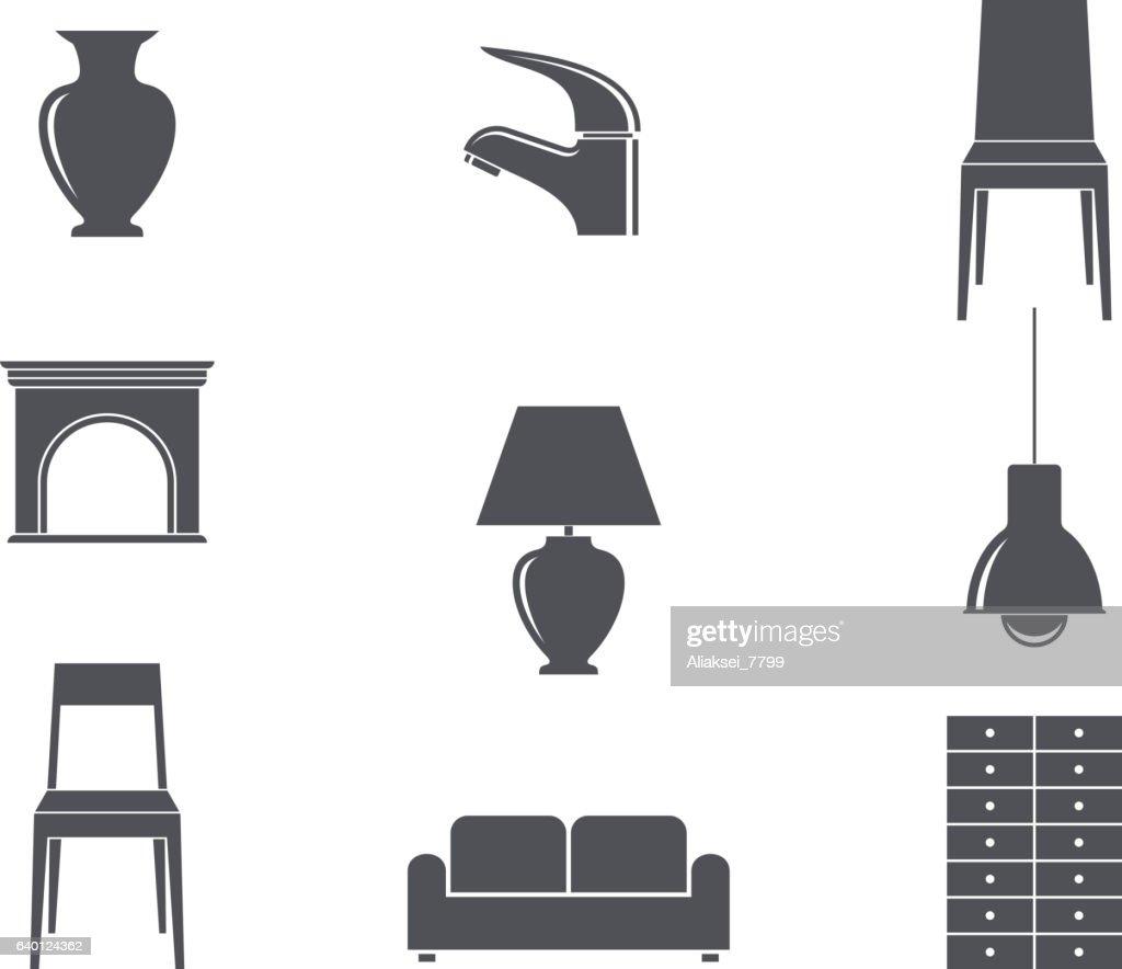 Furniture. Icon set