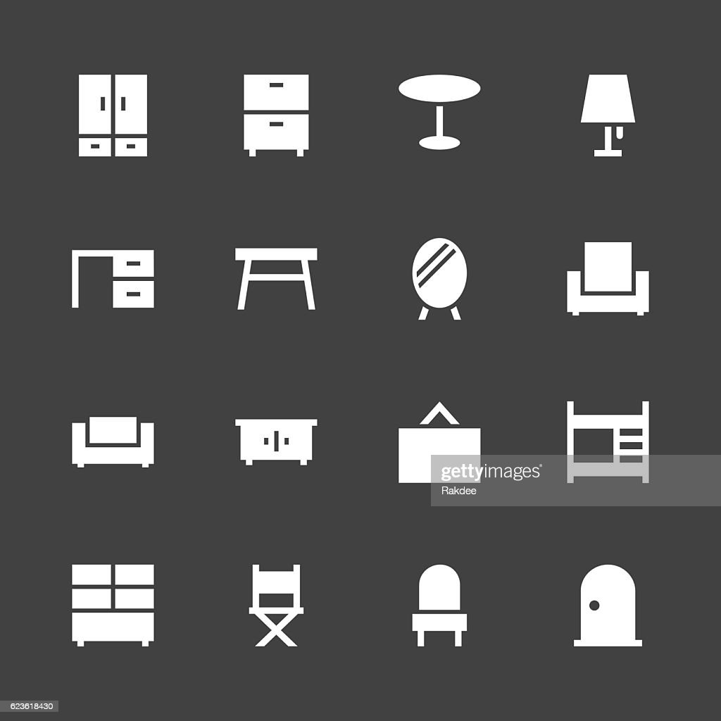 Furniture Icon - White Series