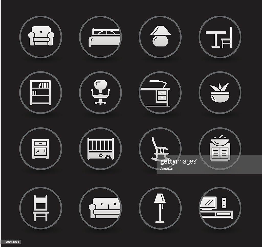 Furniture Icons | Black : stock illustration