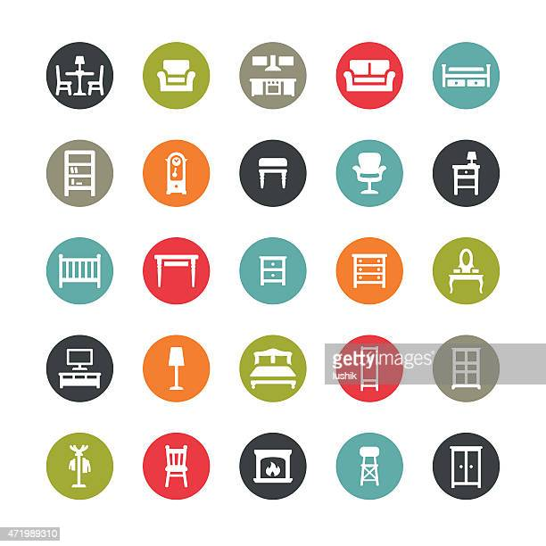 furniture icons / ringico series - display cabinet stock illustrations, clip art, cartoons, & icons