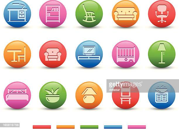 furniture icons | satin series - bookstand stock illustrations, clip art, cartoons, & icons