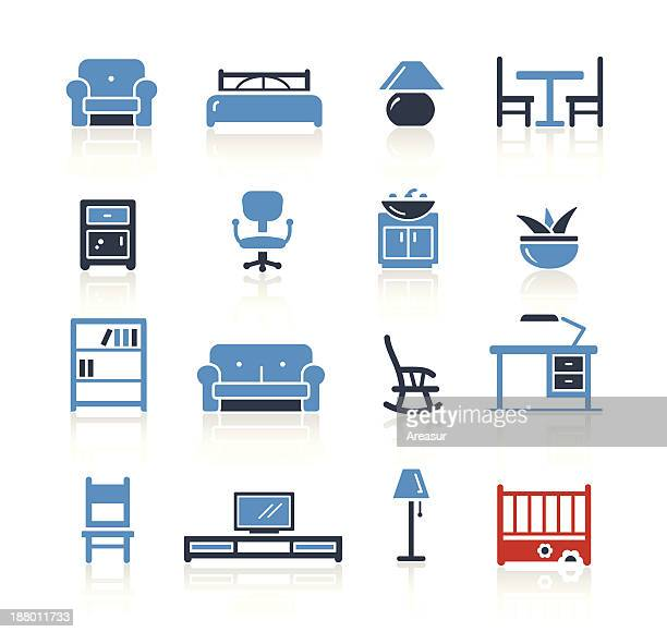 furniture icons two color | pro series - display cabinet stock illustrations, clip art, cartoons, & icons