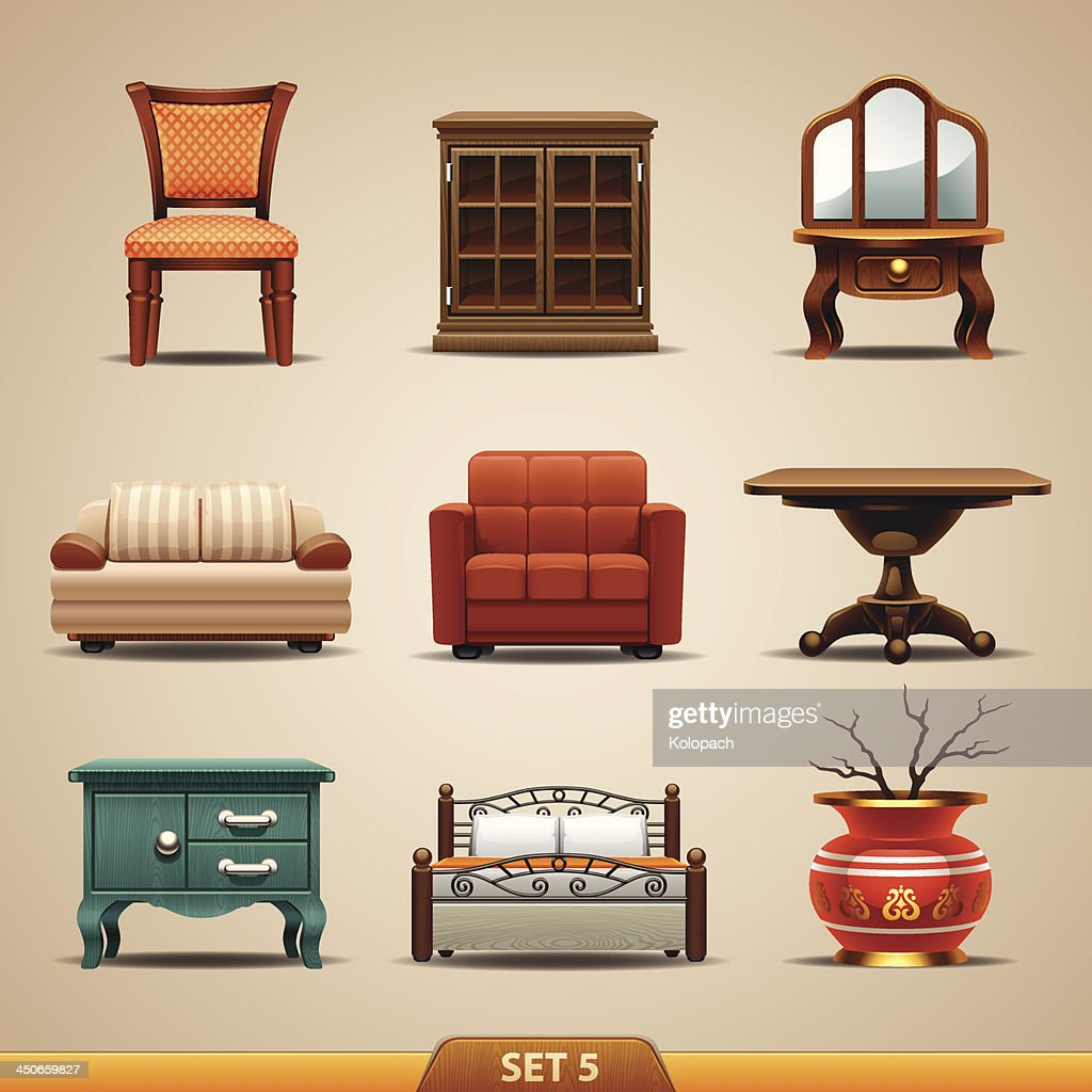 Furniture icons-set 5
