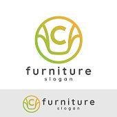 furniture initial Letter C icon design