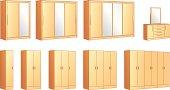 Furniture modular wardrobes, dressing commode mirror