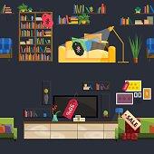 Furniture Shop Super Sale Vector Illustration