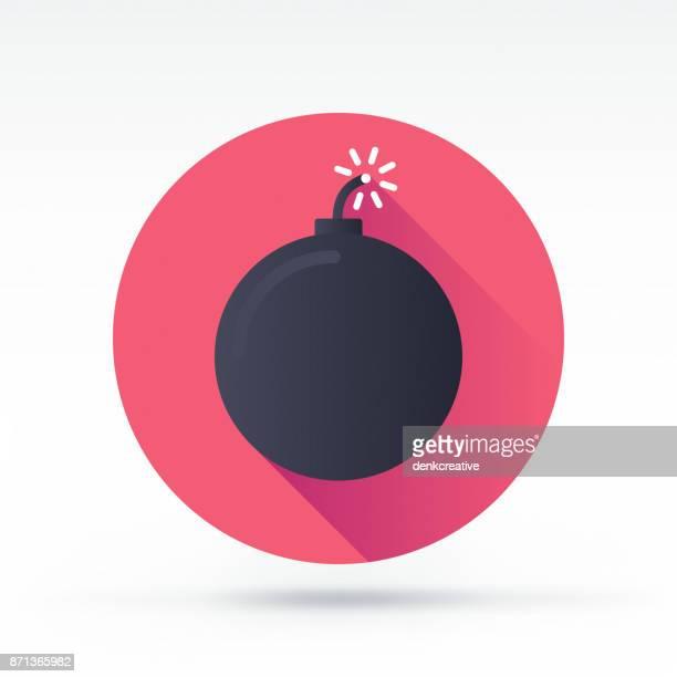 ilustraciones, imágenes clip art, dibujos animados e iconos de stock de icono de bomba fusible - bomba