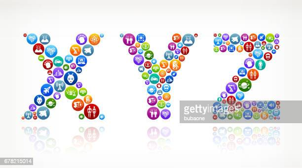 XYZ Future and Futuristic Technology Vector Button Pattern