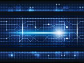 Future digital  technology concept background