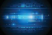 Future digital  technology concept.Blue background
