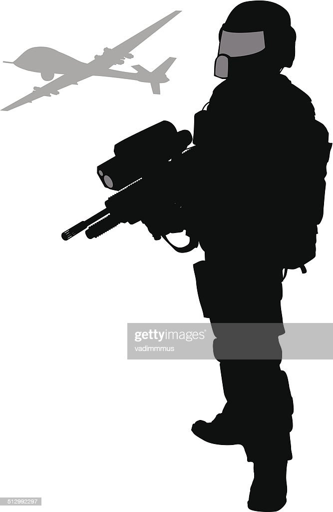 Future soldier.  Vector