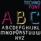 Future Techno Alphabet